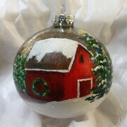Red Barn Ornament 18m