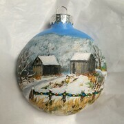 Quieting Barn Ornament 18a