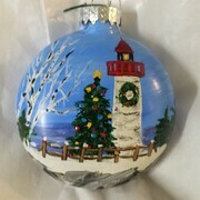 Ornament Christmas Lighthouse 18 bb