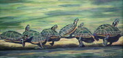 Sun Bathing Turtles