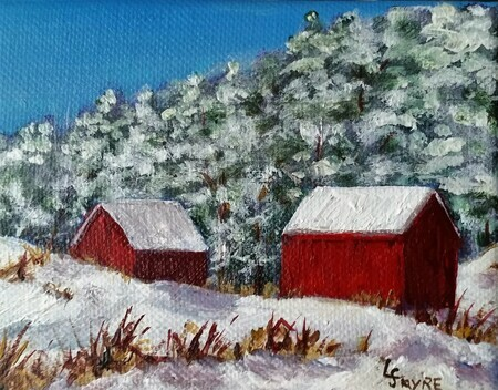 Vermont Barns In Winter